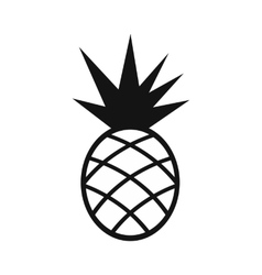 Pineapple simple icon vector
