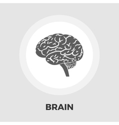 Brain flat icon vector image vector image