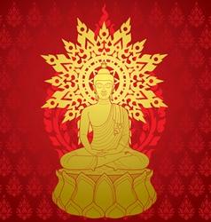 Buddha miditaion vector