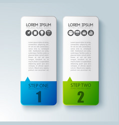 business infographic concept with two paperboards vector image