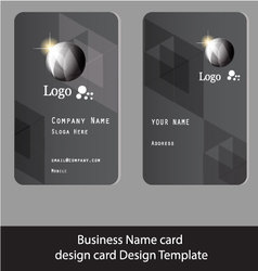 business name card design gray Abstract vector image