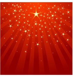 Christmas Shooting Star vector image vector image