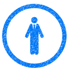 clerk rounded grainy icon vector image vector image