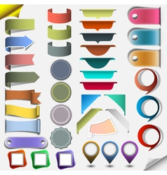 Collection different web elements vector image