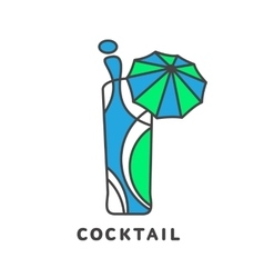Colorful abstract cocktail logo vector