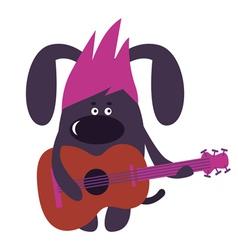 Dog guitarist vector