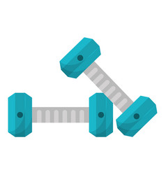 Dumbbell weight gym equipment vector