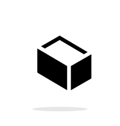 Empty box simple icon on white background vector image vector image