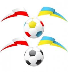 euro 2012 soccer ball vector image vector image