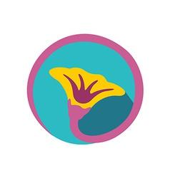 Flower logo Natural components symbol vector image