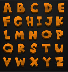 Font design for english alphabets in brown color vector
