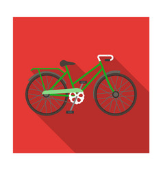 Green female bicycle frame with a scythedifferent vector