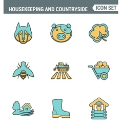 Icons line set premium quality of housekeeping and vector
