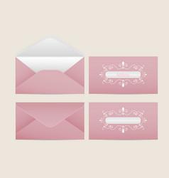 Mail envelope blank paper envelopes vector