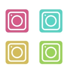 modern colorful flat camera app set for vector image vector image