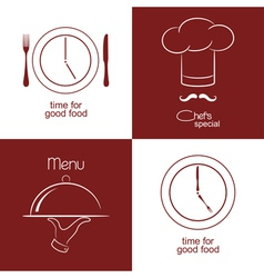 Restaurant menu icons vector image