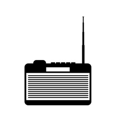 Retro radio device isolated icon vector
