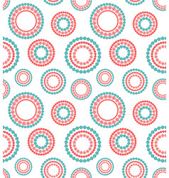Seamless pattern flower wreath vector