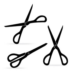 Silhouette scissors sharp isolated on white vector