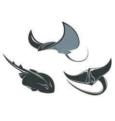 Stingray mascots vector image vector image