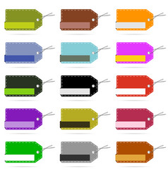 Tag blank design collection in various color set vector