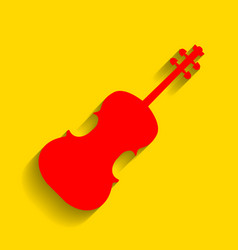 violine sign red icon with vector image vector image
