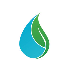 water drop leaf ecology abstract logo image vector image