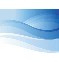 Background of blue wave vector image
