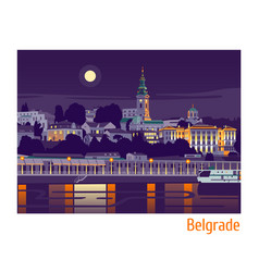 Night belgrade vector