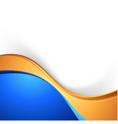 bright swoosh border abstract blue gold background vector image