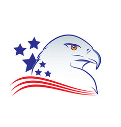 eagle head outline in american vector image