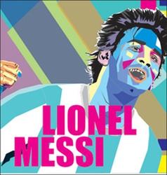 Lionel messi popart vector