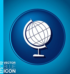 Globe symbol icon geography the study of the vector