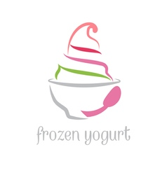 Concept of frozen yogurt vector