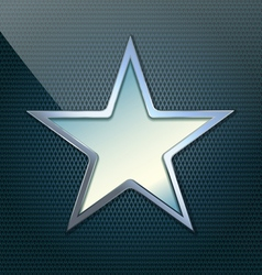 blue simple star vector image