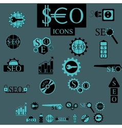 Seo elements set vector