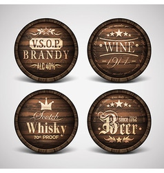 Set of covers casks vector