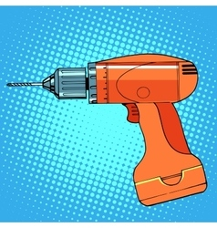 Work tool drill screwdriver vector