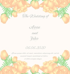 Floral vertical vintage invitation wedding design vector
