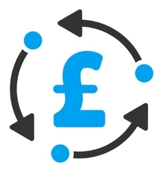 Pound rotation flat icon symbol vector