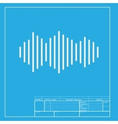 Sound waves icon white section of icon on vector