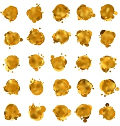 Abstract gold speech bubble EPS 8 vector image