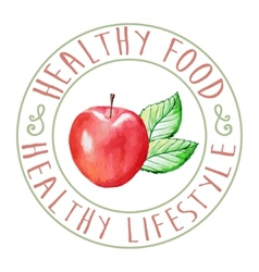 Apple Healthy Food vector image