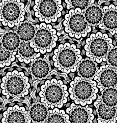 Background flower black and white vector image vector image