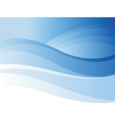 Background of blue wave vector image