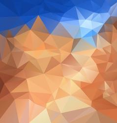 Blue sky beige sand polygonal triangular pattern vector