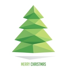 Christmas tree made with triangles isolated on a vector