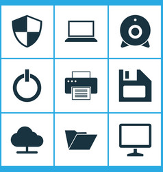 Computer icons set collection of broadcast vector