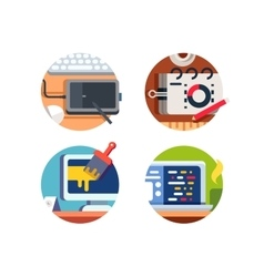 Computer software design vector image