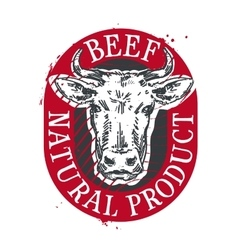 Cow logo design template beef or meat icon vector